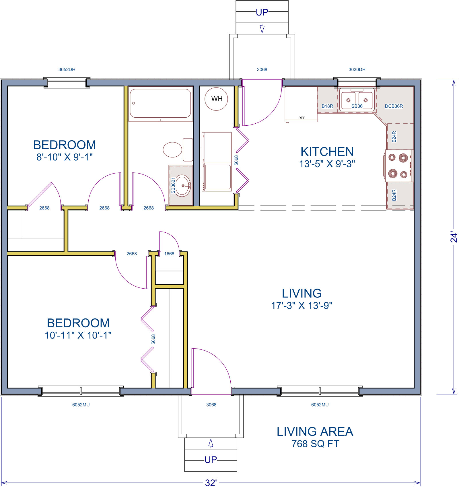 House plans for small, one-story home
