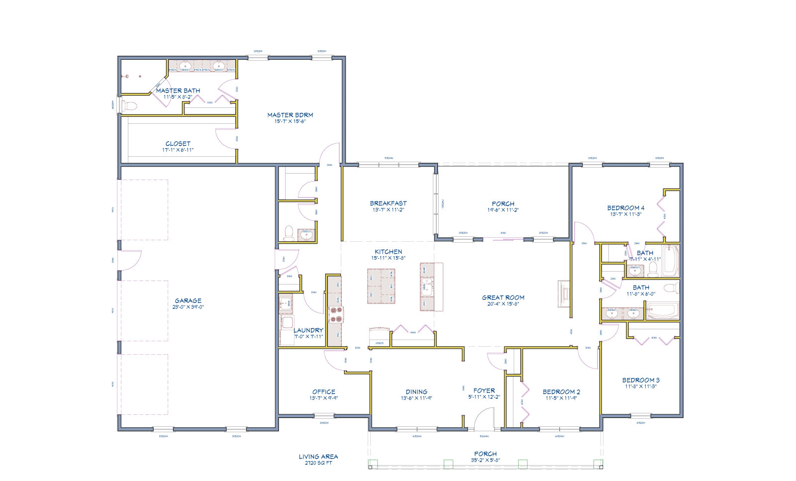New home floor plans for a luxury single story home