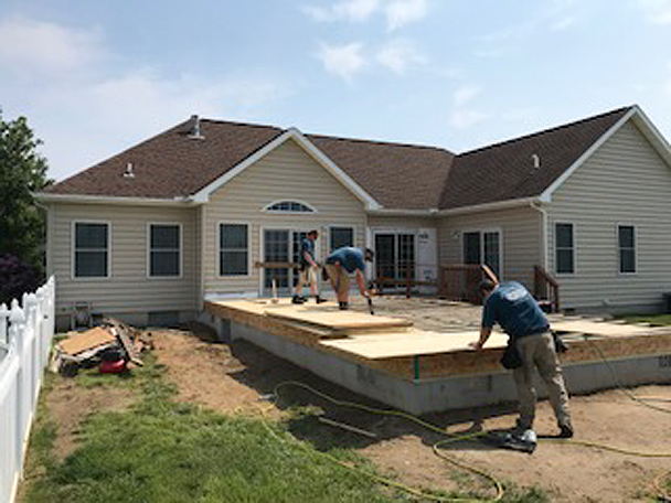 H&H Builders, Inc. works on a new home addition in Delmarva