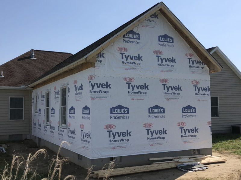 Home addition project by H&H Builders, Inc. nearing its completion