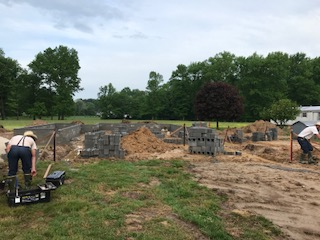 H&H Builders, Inc. laying foundation for new home construction