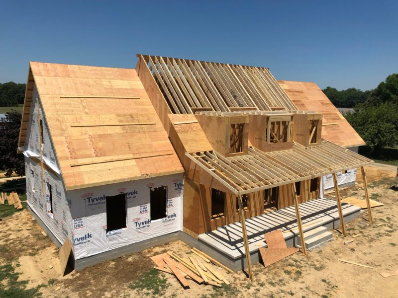 Another in-progress shot of a home in Delmarva being built by H&H Builders, Inc.
