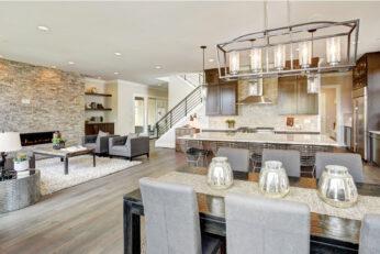 Open kitchen design in new luxury home