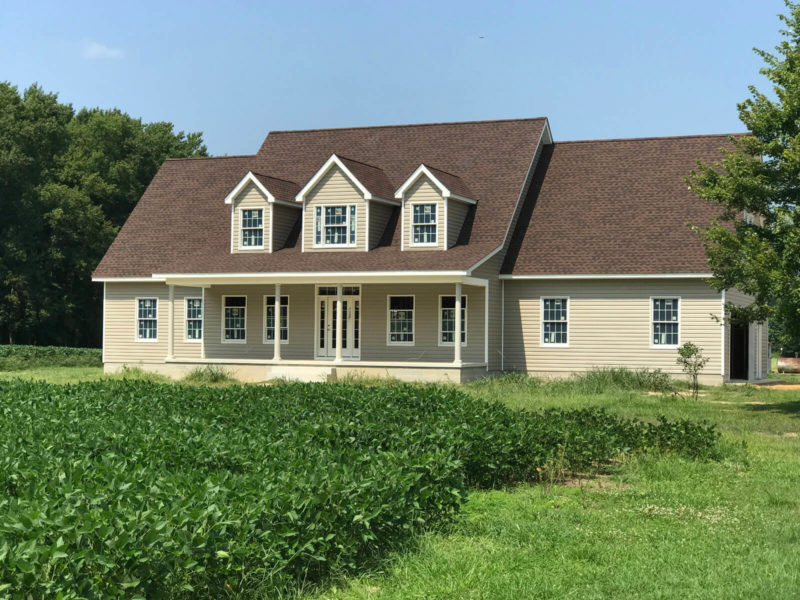 H&H Builders' completed custom home project near Dover, DE