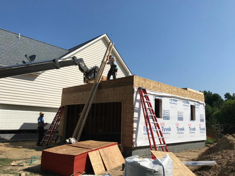 Home builders from H&H constructing a new home addition